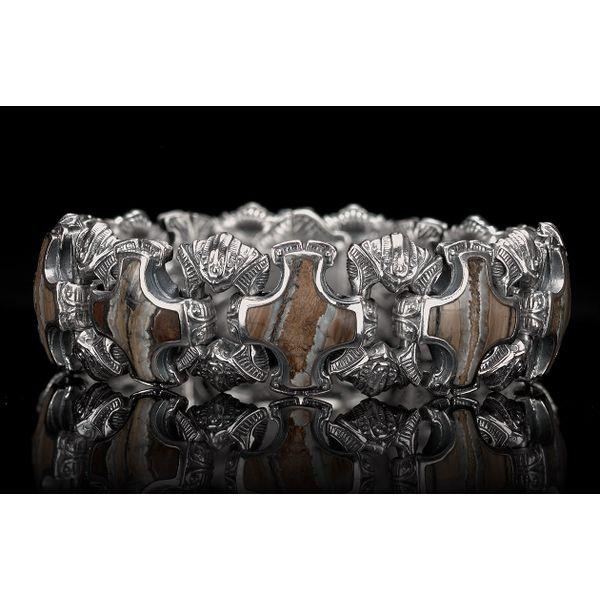 Aleksius Woolly Mammoth Tooth Men's Bracelet Image 2 Toner Jewelers Overland Park, KS