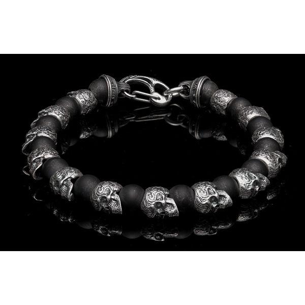 Sugar Skull & Onyx Men's Bracelet Toner Jewelers Overland Park, KS
