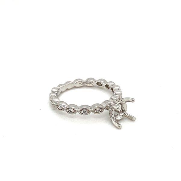 Vintage Inspired Diamond Engagement Ring Setting Image 3 Toner Jewelers Overland Park, KS