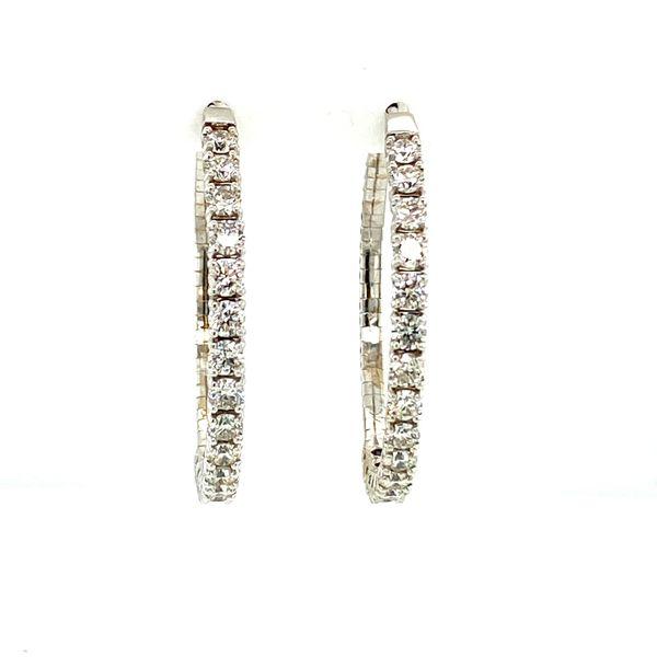 4cttw Diamond Inside-Outside Hoops Image 4 Toner Jewelers Overland Park, KS