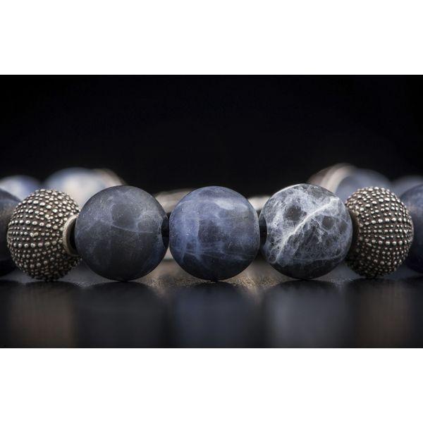 Pacific Ocean Sodalite Bead Men's Bracelet Image 5 Toner Jewelers Overland Park, KS