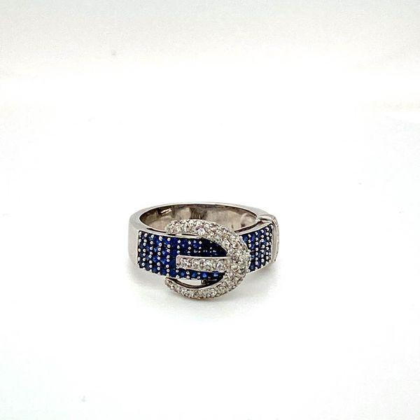 Lady's Estate Sapphire and Diamond Buckle Ring Toner Jewelers Overland Park, KS
