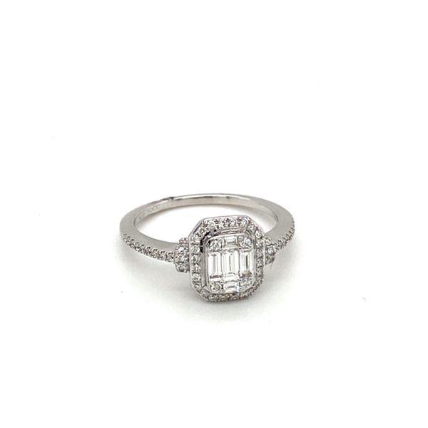 Mosaic Style Engagement Ring  Image 2 Toner Jewelers Overland Park, KS