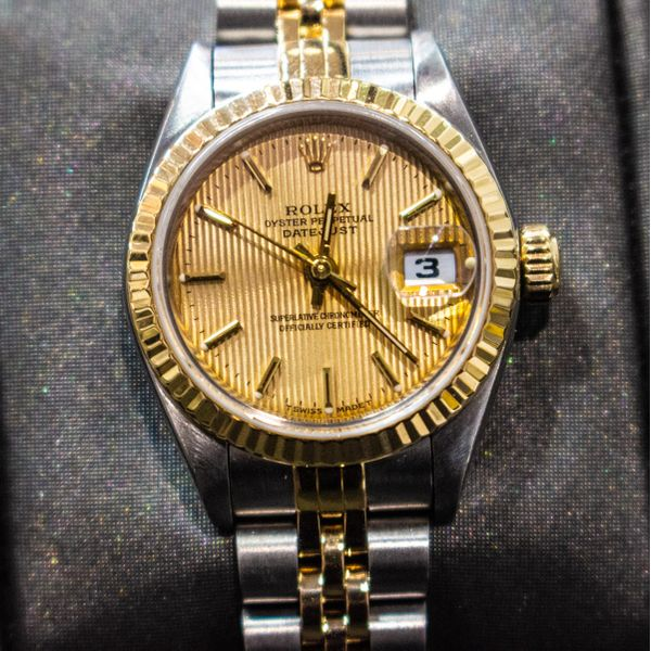 Ladies Rolex TT Datejust with Tapestry Dial