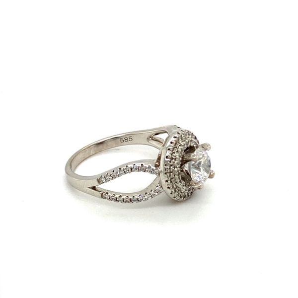 14K White Gold Diamond Engagement Ring Setting Image 3 Toner Jewelers Overland Park, KS