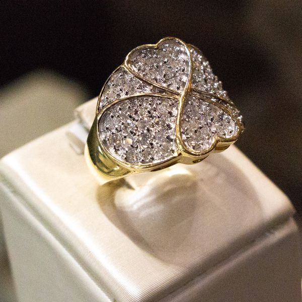 Cloverleaf Diamond Ring