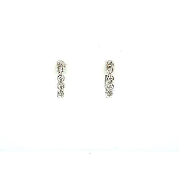 Diamond Small Hoop Earrings Image 2 Toner Jewelers Overland Park, KS