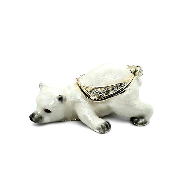 Mini Polar Bear Trinket Box Vandenbergs Fine Jewellery Winnipeg, MB