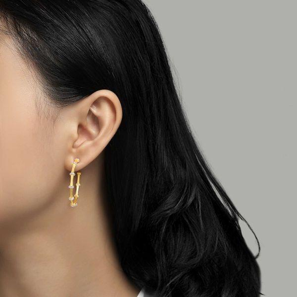 Mixed-Color Bamboo Hoop Earrings Image 2 Vandenbergs Fine Jewellery Winnipeg, MB