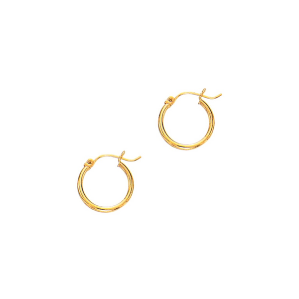14K Gold 2mm Hoop Earrings Vandenbergs Fine Jewellery Winnipeg, MB