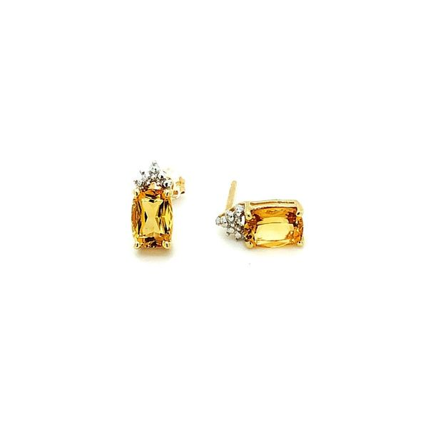 14K Yellow Gold Citrine Studs Image 2 Vandenbergs Fine Jewellery Winnipeg, MB