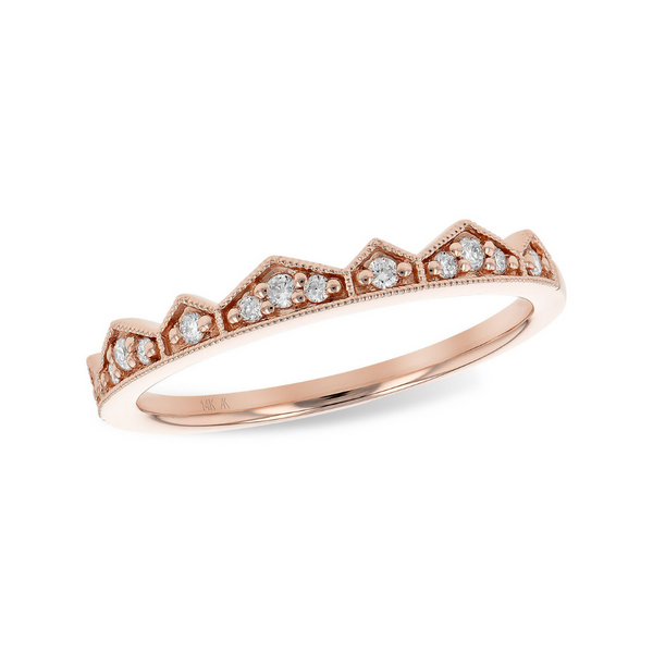 14K Rose Gold Diamond Band Vandenbergs Fine Jewellery Winnipeg, MB