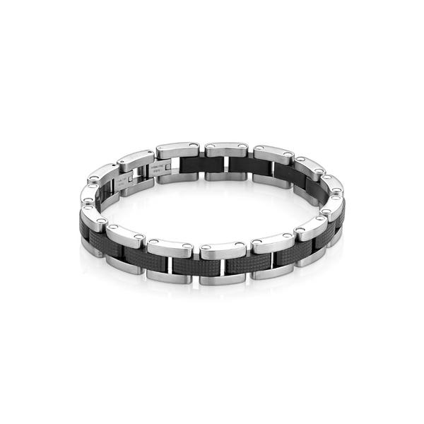 Stainless Steel Black Textured Bracelet Vandenbergs Fine Jewellery Winnipeg, MB