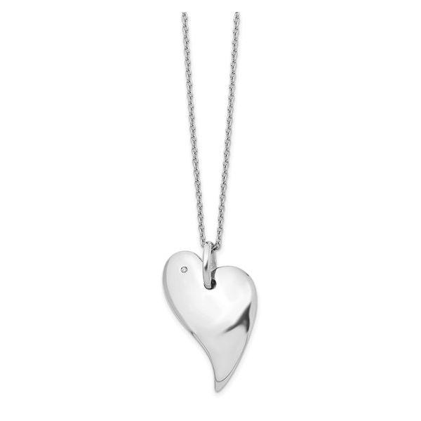 White Ice Diamond Heart Necklace Vandenbergs Fine Jewellery Winnipeg, MB