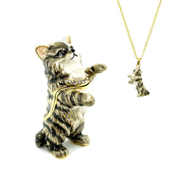 Earl Grey Cat Trinket Box Vandenbergs Fine Jewellery Winnipeg, MB