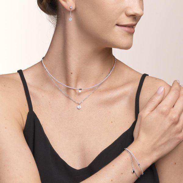 Silver & Lilac Layered Necklace Image 2 Vandenbergs Fine Jewellery Winnipeg, MB