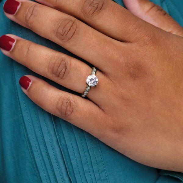 10K White 7.4 mm Round Engagement Ring Mounting Image 2 Vandenbergs Fine Jewellery Winnipeg, MB