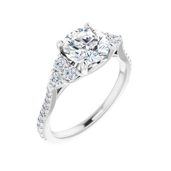 French-Set Engagement Ring Mounting Vandenbergs Fine Jewellery Winnipeg, MB