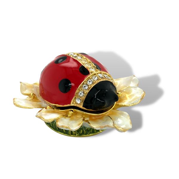 Blooming Ladybug Trinket Box Image 2 Vandenbergs Fine Jewellery Winnipeg, MB