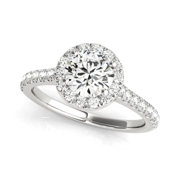 14K White Round Halo Lab Grown Diamond Engagement Ring Vandenbergs Fine Jewellery Winnipeg, MB