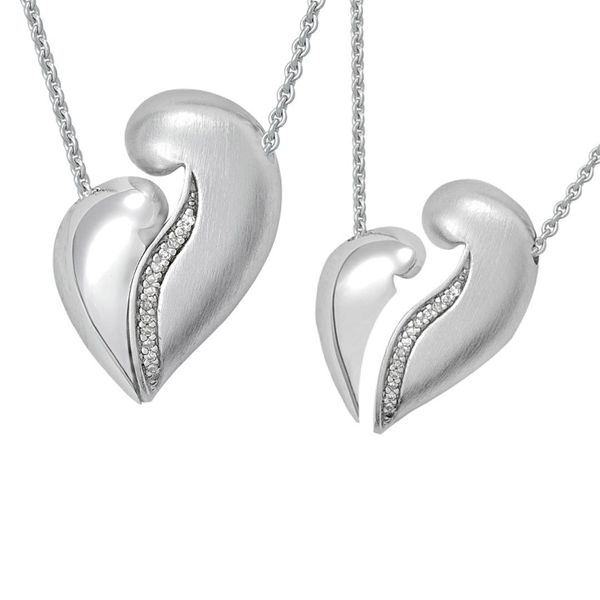 Petra Azar Sterling Silver Magnetic Heart Pendant