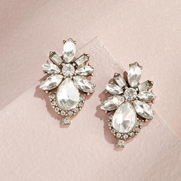 Floret Crystal Studs Vandenbergs Fine Jewellery Winnipeg, MB