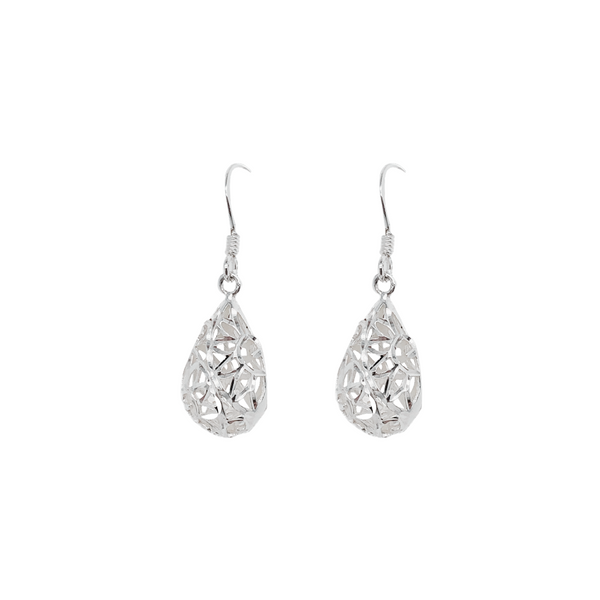 Sterling Silver Flower Design Earrings Vandenbergs Fine Jewellery Winnipeg, MB