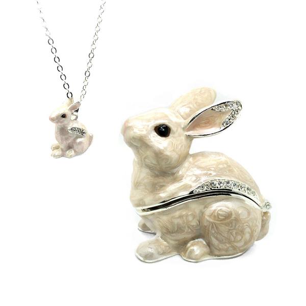 Snowy Bunny Trinket Box Vandenbergs Fine Jewellery Winnipeg, MB