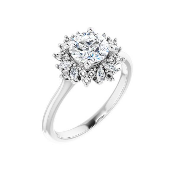 White Gold Engagement Ring Mounting Vandenbergs Fine Jewellery Winnipeg, MB