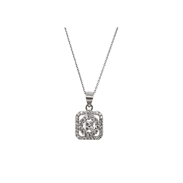 Sterling Silver Cubic Zirconia Necklace Vandenbergs Fine Jewellery Winnipeg, MB