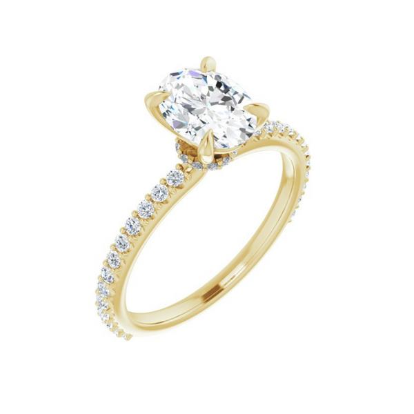 8x6 mm Oval Engagement Ring Mounting Vandenbergs Fine Jewellery Winnipeg, MB