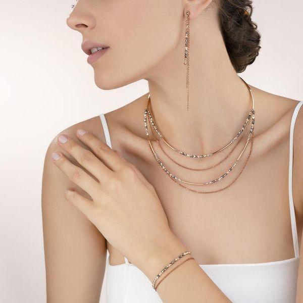 Rose Gold & Grey Waterfall Necklace Image 2 Vandenbergs Fine Jewellery Winnipeg, MB