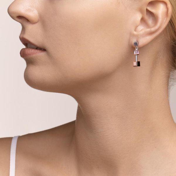 Rose & Silver GeoCube Earrings Image 2 Vandenbergs Fine Jewellery Winnipeg, MB