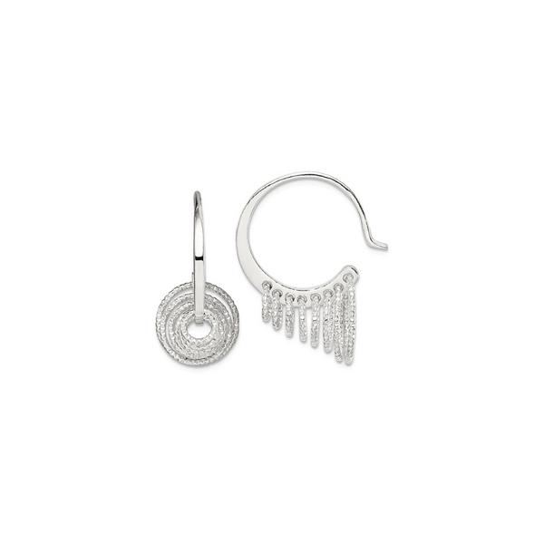 Sterling Silver Dangle Hoop Earrings Vandenbergs Fine Jewellery Winnipeg, MB