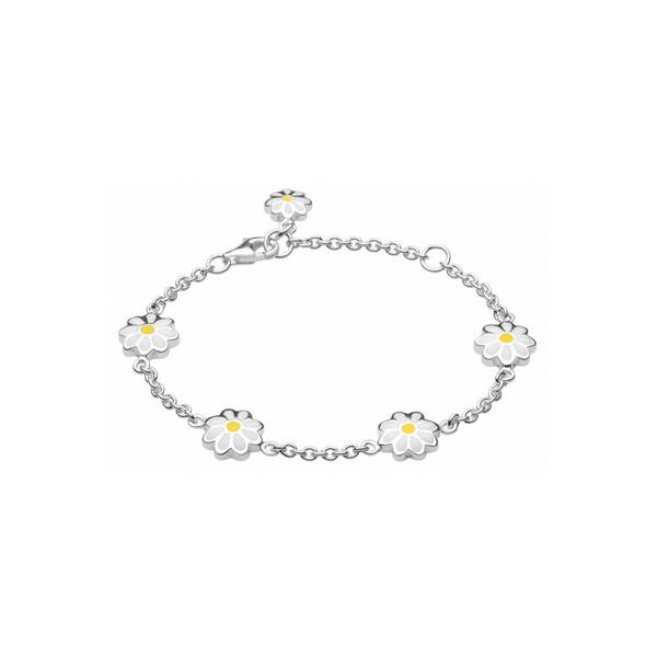 Girls Daisy Enamel Chain Bracelet Vandenbergs Fine Jewellery Winnipeg, MB