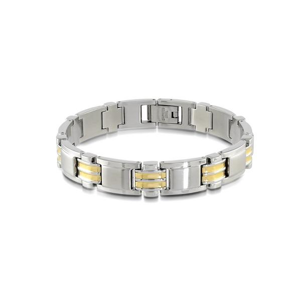 Two-Tone Stainless Steel Link Bracelet Vandenbergs Fine Jewellery Winnipeg, MB