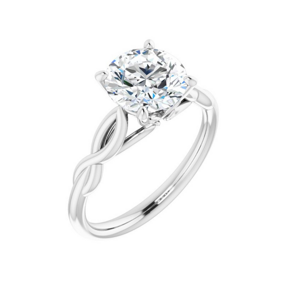 Cushion Solitaire Engagement Ring Mounting Vandenbergs Fine Jewellery Winnipeg, MB
