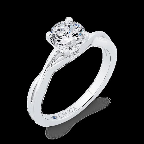 White Gold Semi-Mount Solitaire Engagement Ring Image 3 Vandenbergs Fine Jewellery Winnipeg, MB