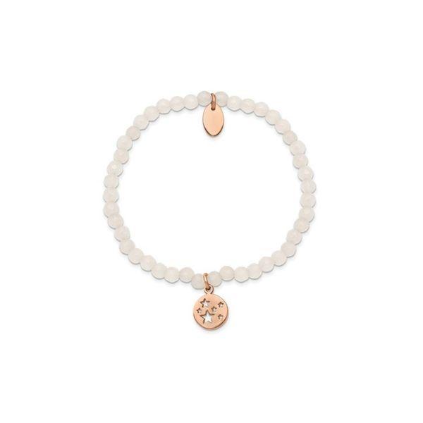 Rose Stars White Jade Beaded Stretch Bracelet Image 2 Vandenbergs Fine Jewellery Winnipeg, MB