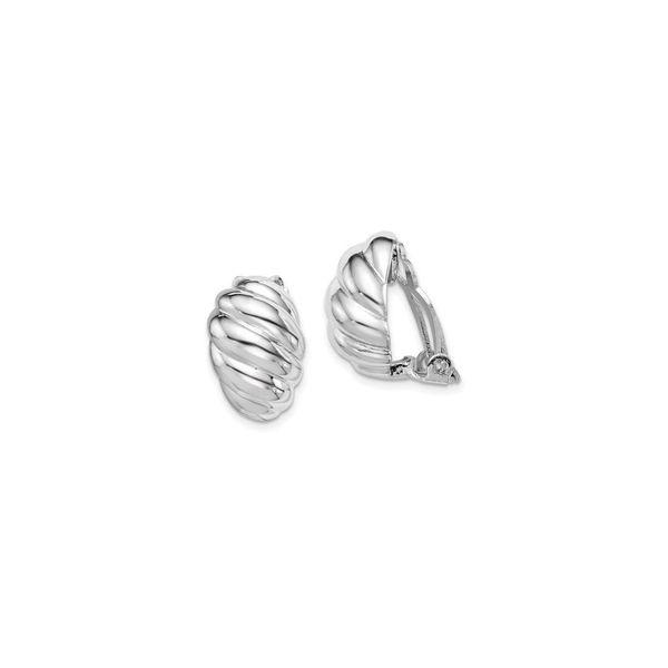 Scalloped Oval Clip On Earrings Vandenbergs Fine Jewellery Winnipeg, MB