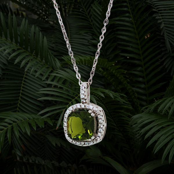 Green & White Cubic Zirconia Necklace Image 2 Vandenbergs Fine Jewellery Winnipeg, MB