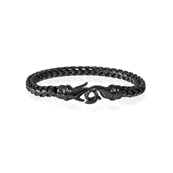 Steel Black Franco Bracelet Vandenbergs Fine Jewellery Winnipeg, MB