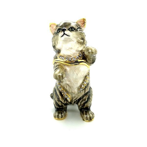 Earl Grey Cat Trinket Box Image 2 Vandenbergs Fine Jewellery Winnipeg, MB