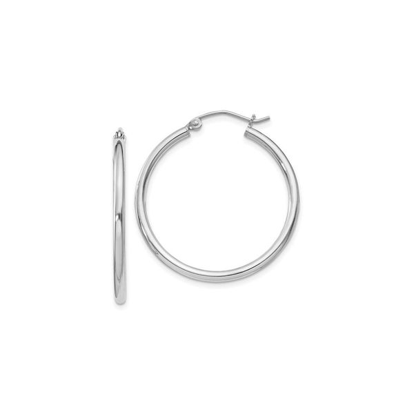 Silver 2mm Hoop Earrings Vandenbergs Fine Jewellery Winnipeg, MB