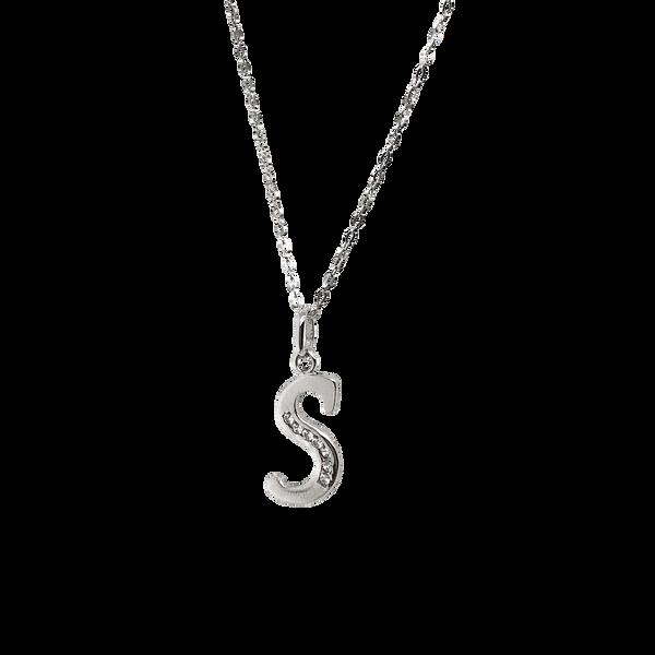 Sterling Silver CZ Letter S Necklace Vandenbergs Fine Jewellery Winnipeg, MB