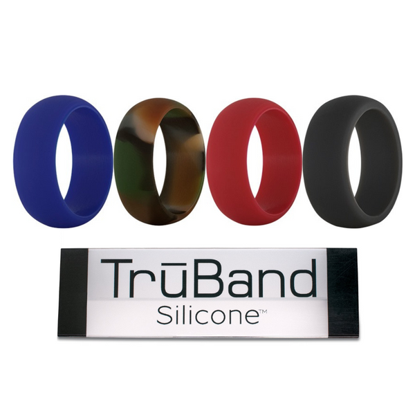 TruBand Wide Silicone Ring In Blue Image 2 Vandenbergs Fine Jewellery Winnipeg, MB