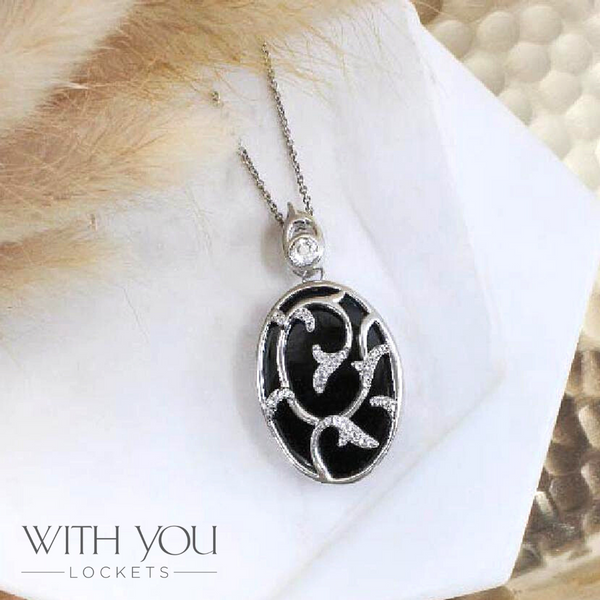 "Sterling Silver White Topaz ""Nadia"" Locket Image 2 Vandenbergs Fine Jewellery Winnipeg, MB"