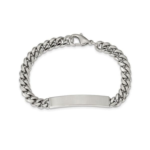 Stainless Steel Polished ID Bracelet Vandenbergs Fine Jewellery Winnipeg, MB