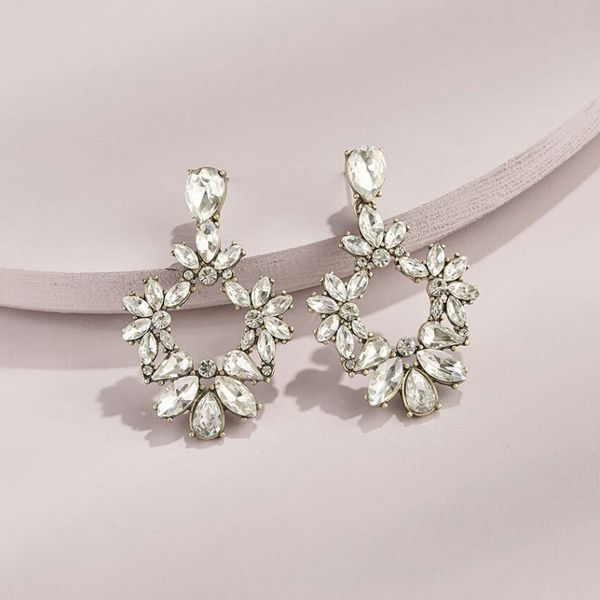 Olive and Piper Crystal Floret Studs pink