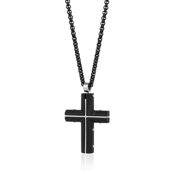 Black Steel Cross Necklace Vandenbergs Fine Jewellery Winnipeg, MB